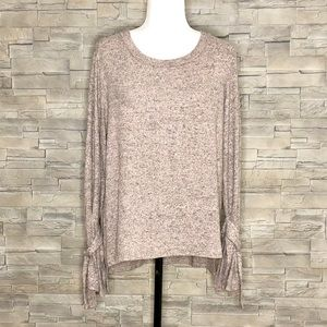 Sans Souci blush-pink and grey sweater